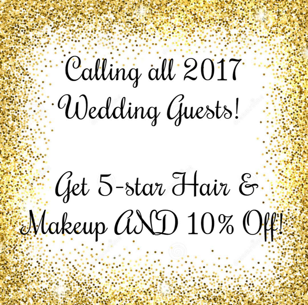 Happy NYFW Bridal! ⠀ .⠀ .⠀ .⠀ To celebrate, we're offering 10% off hair & makeup for all wedding guests who book through October! Follow the link in the bio or email laura@missharlequin.com for details 🎉🎉🎉🎉🎉🎉