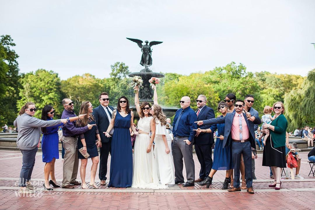 Brides Brenne & Laura had the biggest support system you could ever ask for!